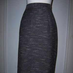 Evan Picone Suit 14W Skirt Black White Lined